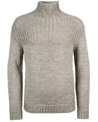 Grey Knit Turtleneck