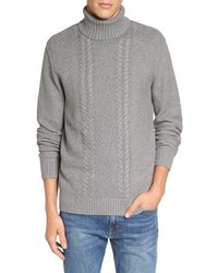 1901 Spire Cable Knit Turtleneck Sweater