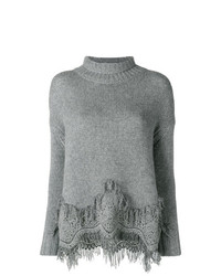 Ermanno Scervino Embroidered Hem Jumper