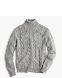 J.Crew Italian Cashmere Cable Turtleneck Sweater