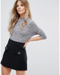 Monza turtleneck knit top medium 3734920