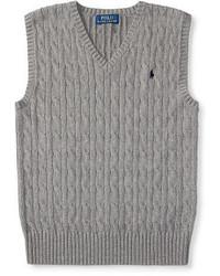 Grey Knit Waistcoat