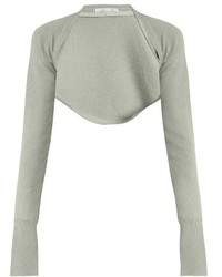 Palmerharding open front cropped wool knit top medium 824327