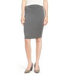 Petite knee length wool crepe knit skirt medium 757329