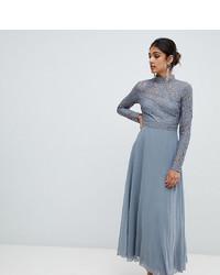 Little Mistress Tall Lace Top Full Midi Prom Dress