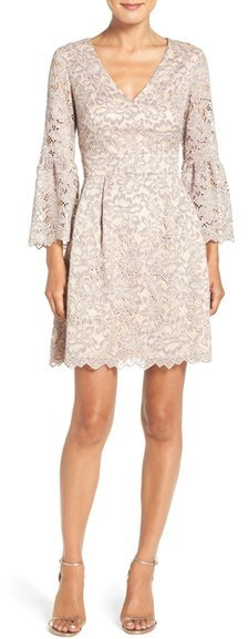Eliza J Lace Fit Flare Dress