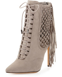 Grey lace up ankle boots original 9286601