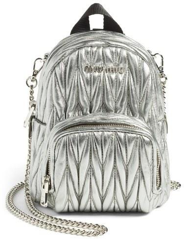 Miu Miu Micro Matelasse Leather Backpack Black, £800   Nordstrom ... 31b3482f54