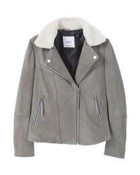 Laurell leather jacket grey medium 3993151