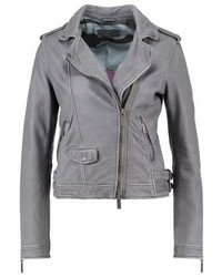 Leather jacket grey medium 3993119