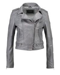 Leather jacket grey medium 3993121