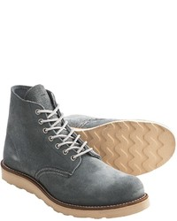 Grey Leather Casual Boots