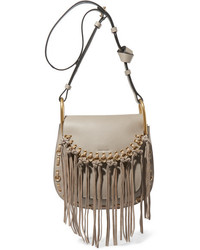 9223afa6a2 Kara Micro Textured Leather Shoulder Bag Taupe Out of stock · Chloé Hudson  Small Whipstitched Tasseled Leather Shoulder Bag Gray