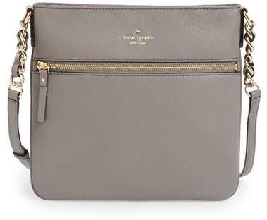 d77af8b4d ... Grey Leather Crossbody Bags Kate Spade New York Cobble Hill Ellen Leather  Crossbody Bag Black ...