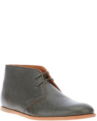 Grey Leather Desert Boots