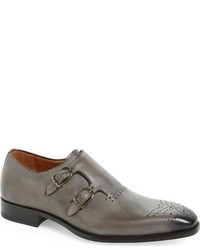 Gris double monk strap shoe medium 746406