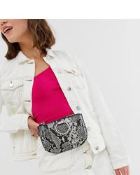 Aldo Elroka Snake Print Belt Bum Bag With Silver Hardware