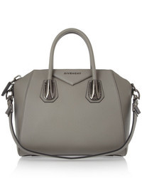 Small antigona bag in gray leather medium 20150