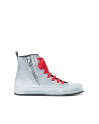 Ann Demeulemeester Painted Hi Top Sneakers