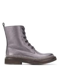 Brunello Cucinelli Grained Effect Ankle Boots