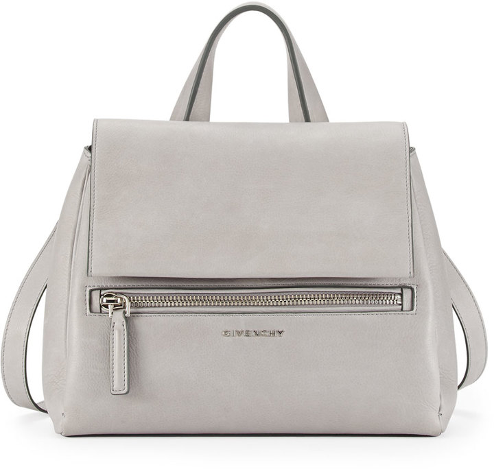 c1625e83de ... Givenchy Pandora Pure Small Leather Satchel Bag Pearl Gray
