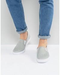 Slip on sneakers in gray mesh medium 6739275