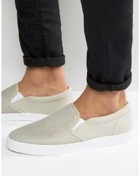 Slip on sneakers in gray mesh medium 6739277