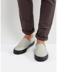 Slip on sneakers in gray with chunky black sole medium 6739276