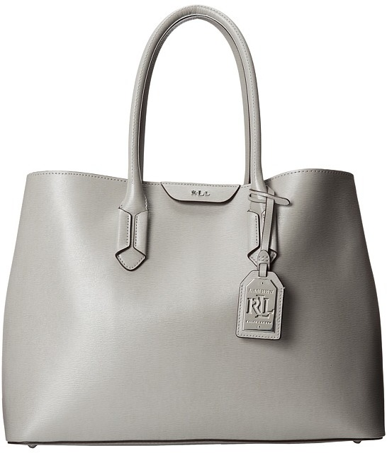 bf83f8ab0617 ... free shipping grey leather tote bags lauren ralph lauren tate city tote  dd35d f41dc ...