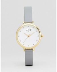Limit 621937 Faux Leather Watch In Gray