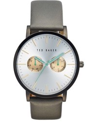Ted Baker London Multifunction Leather Strap Watch 40mm