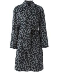 Saint Laurent Belted Leopard Print Coat
