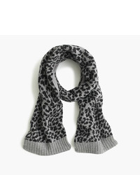 J.Crew Girls Leopard Wool Scarf