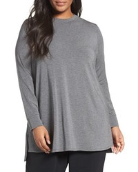 Eileen Fisher Plus Size Stretch Tencel Lyocell Jersey Tunic