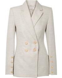 Rebecca Vallance Maya Cotton And Linen Blend Blazer