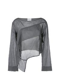 Long sleeve draped blouse medium 7704116