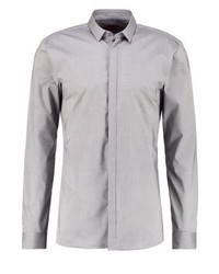 Ebros extra slim fit shirt grey medium 3776266