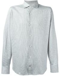 Eleventy Patterned Longsleeved Shirt