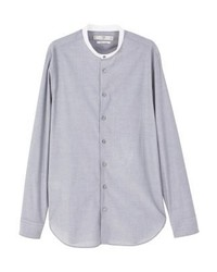 Mango Roberto Shirt Medium Heather Grey