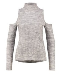 Long sleeved top light grey melange medium 3894016
