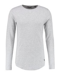 Onsmatt longy muscle fit long sleeved top light grey melange medium 4159255