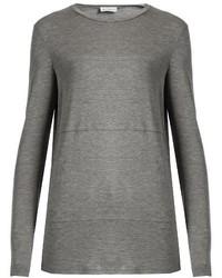 Raey Ry Sheer Panel Long Sleeved T Shirt