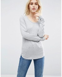T shirt with long sleeve and scoop neck medium 1198420