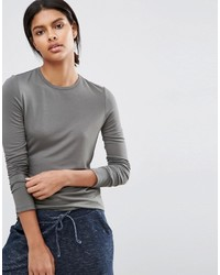 Asos T Shirt With Long Sleeves And Crew Neck