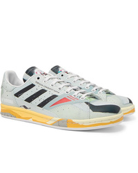 Raf Simons Adidas Originals Torsion Stan Smith Printed Leather Sneakers