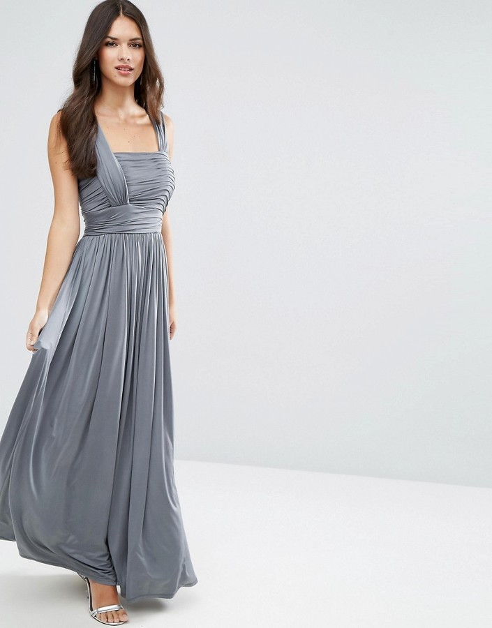 80 Asos Wedding Slinky Ruched Maxi Dress