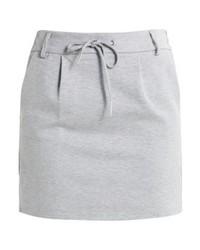Onlpoptrash mini skirt light grey melange medium 3935885