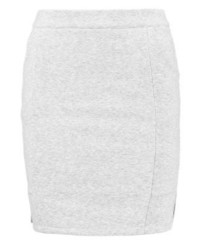 Vila Viclira Pencil Skirt Light Grey Melange