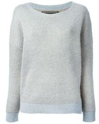 Grey Mohair Crew-neck Sweater