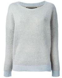 Grey Mohair Crew-neck Sweater
